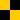 damier jaune-noir